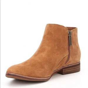 Gianni Bini Donnie Suede Flat Ankle Booties